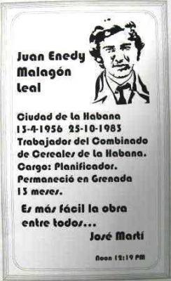 MONUMENTO A LOS CUBANOS CAIDOS EN 1983 EN GRANADA.